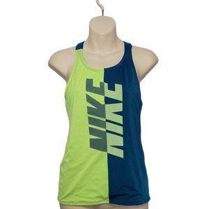 NIKE girls color block criss cross back tank top